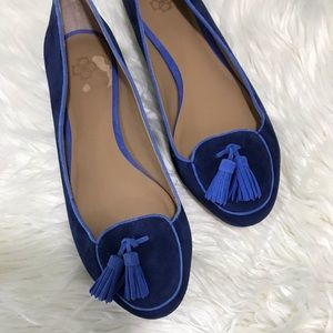 Ann Taylor Piper Suede Smoking Flat Size 7.5